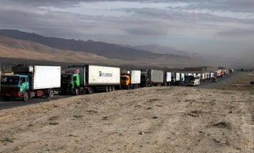 Robot Truck Convoy Tested In Nevada