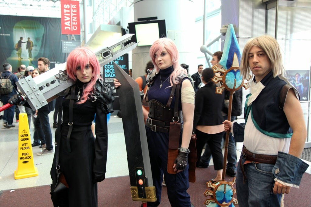 The Laser Girls and Scott as Final Fantasy characters