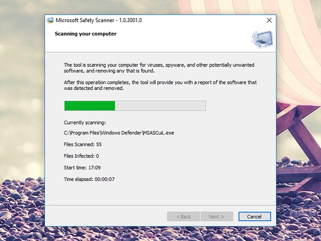 Microsoft Safety Scanner, an antivirus program.