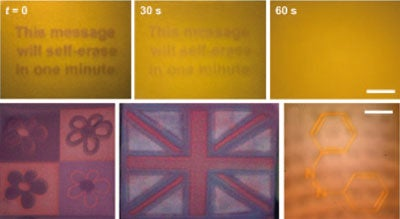 This Message Will Self Destruct: Scientists Develop Programmable, Self-Erasing Documents