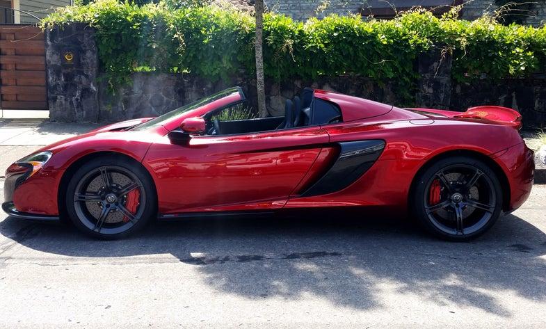 McLaren 650S Spider Gets Great Gas Mileage