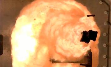 Video: Flamethrowing Navy Railgun Blasts Terrifying Projectiles Through Superheated Air