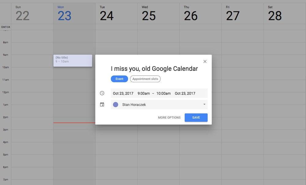 Google Calendar RIP