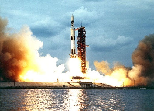 The real Saturn V.