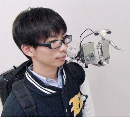 Video: A Japanese Telepresence Robot that Lives on Your Shoulder