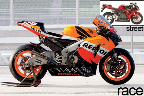 American Honda competition racer and street bike