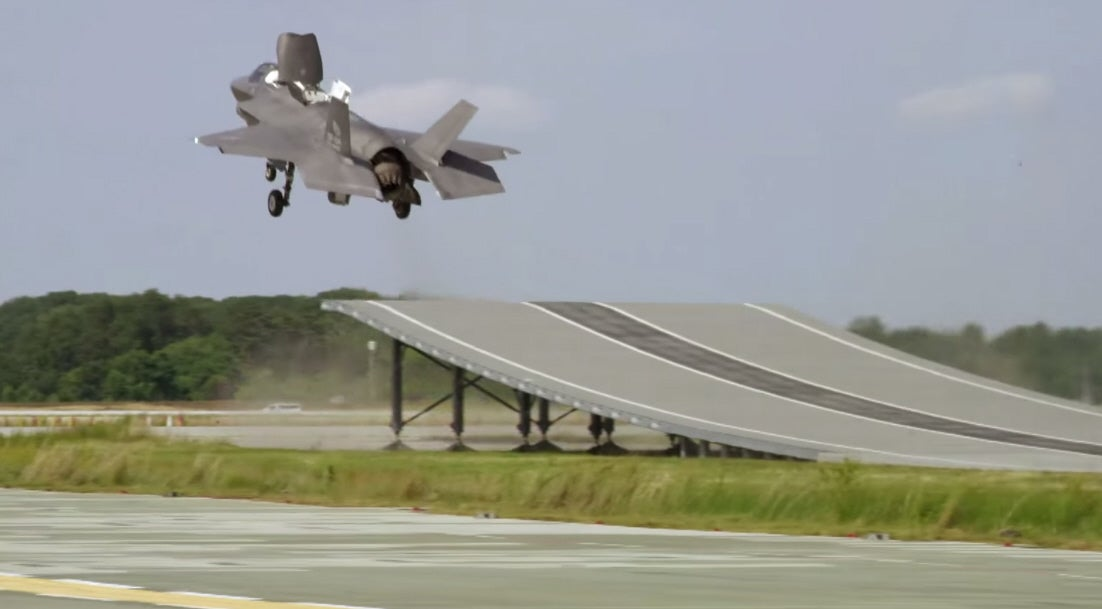 Watch The F-35B Joint Strike Fighter Hurtle Into The Sky