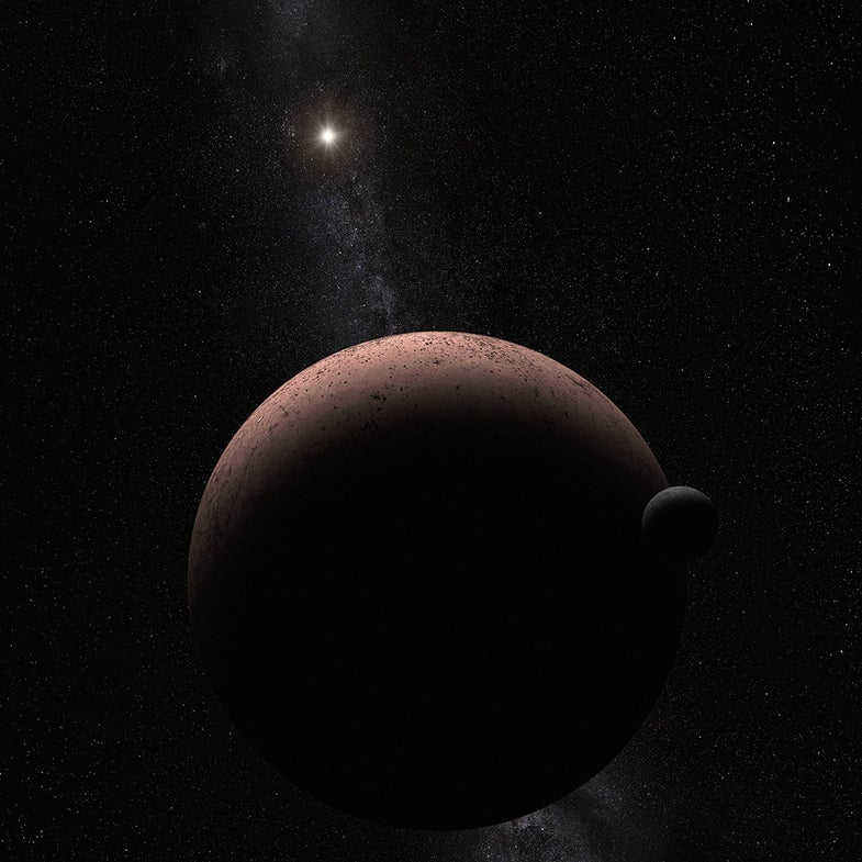 Hubble Spies A Moon Orbiting A Distant Dwarf Planet