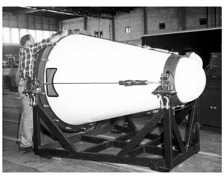 Eisenhower's Meeting with a Missile Nose Cone