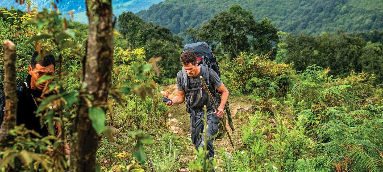 Marine Capt David Gooch hiking