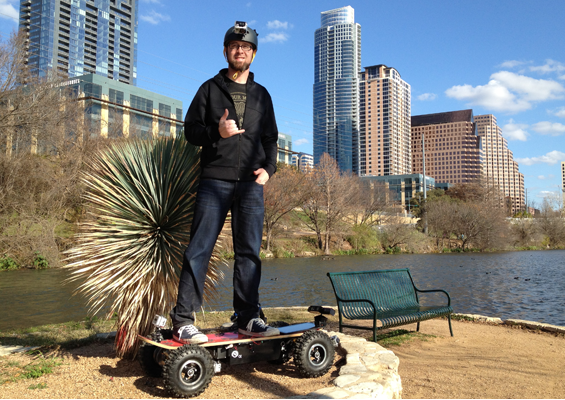 Video: A 32 MPH All-Terrain Electric Skateboard Steered With a Kinect