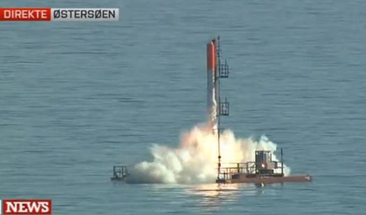 Video: Amateur-Built Danish 'Non-Profit Rocket' Blasts Off from the Baltic Sea