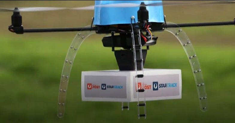 Australian Postal Service Tests Drone Delivery