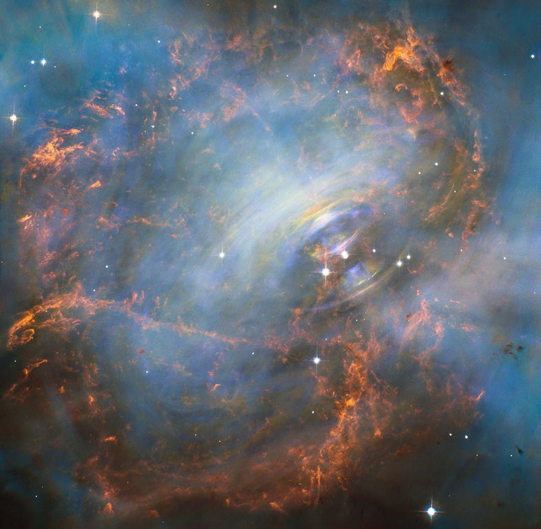Gorgeous Hubble Picture Shows The Heart Of The Crab Nebula