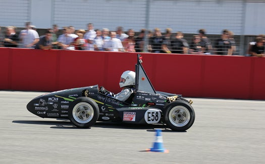 Student Engineers Use 3-D Printing To Boost A Custom-Built Electric Racecar
