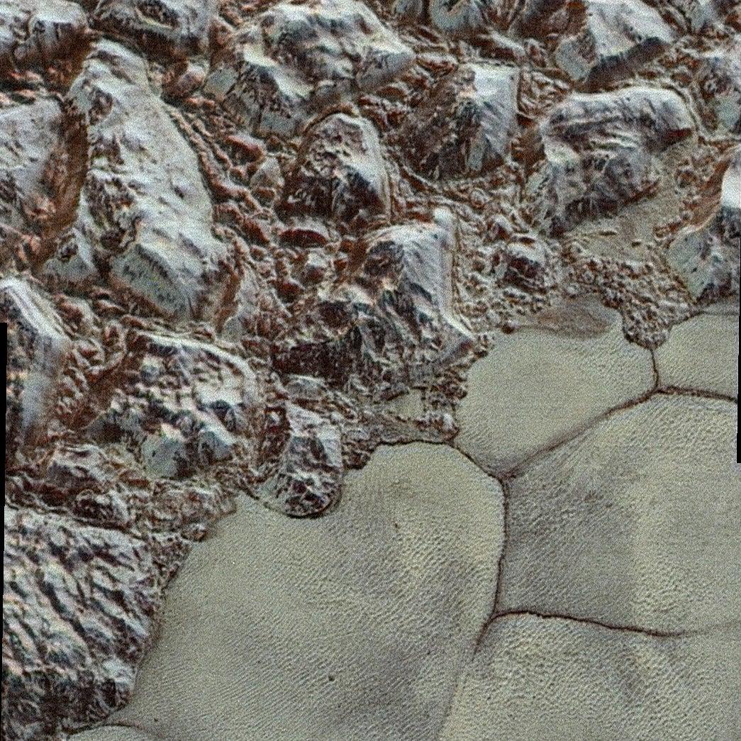 Pluto's Strange Shapes Caused By Churning Nitrogen Ice