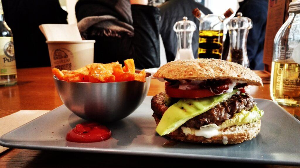 Burger fries restaurant