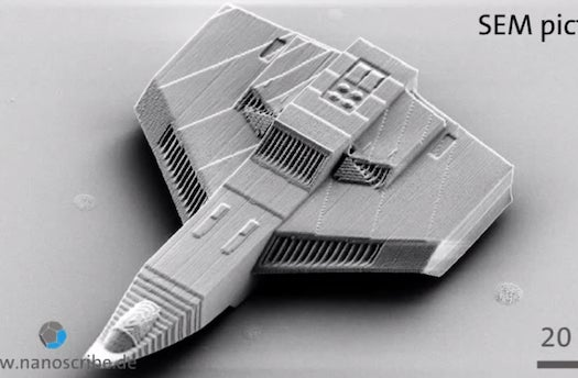 Watch A Spaceship The Width Of A Hair Get 3-D Printed In Real Time