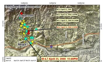 Earthquakes Continue to Roll Through Reno