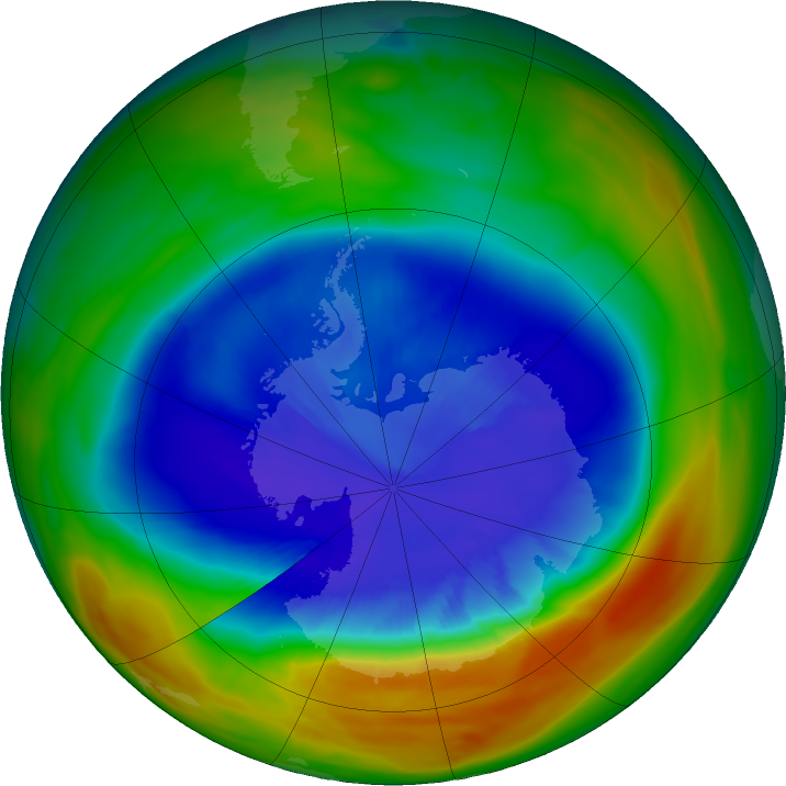 The ozone hole is at its smallest size since 1988, thanks to hot air and a massive international effort