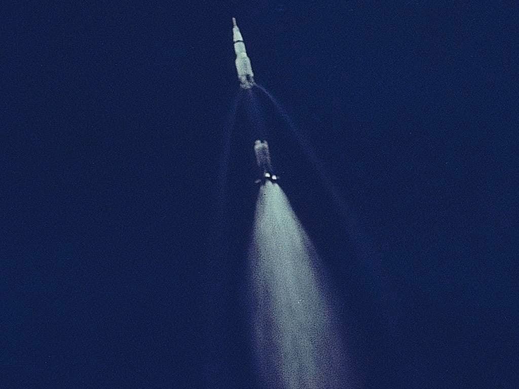 Apollo 11 First Stage Separation