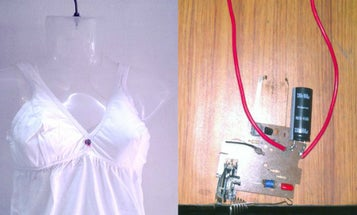 Zap Away Would-Be Attackers With This 3800kv Anti-Rape Bra