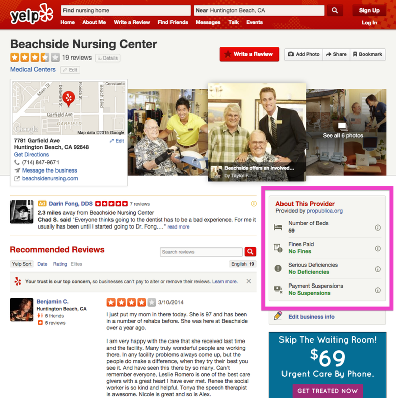 Now You Can Pick Your Hospital Like Your Restaurants–On Yelp