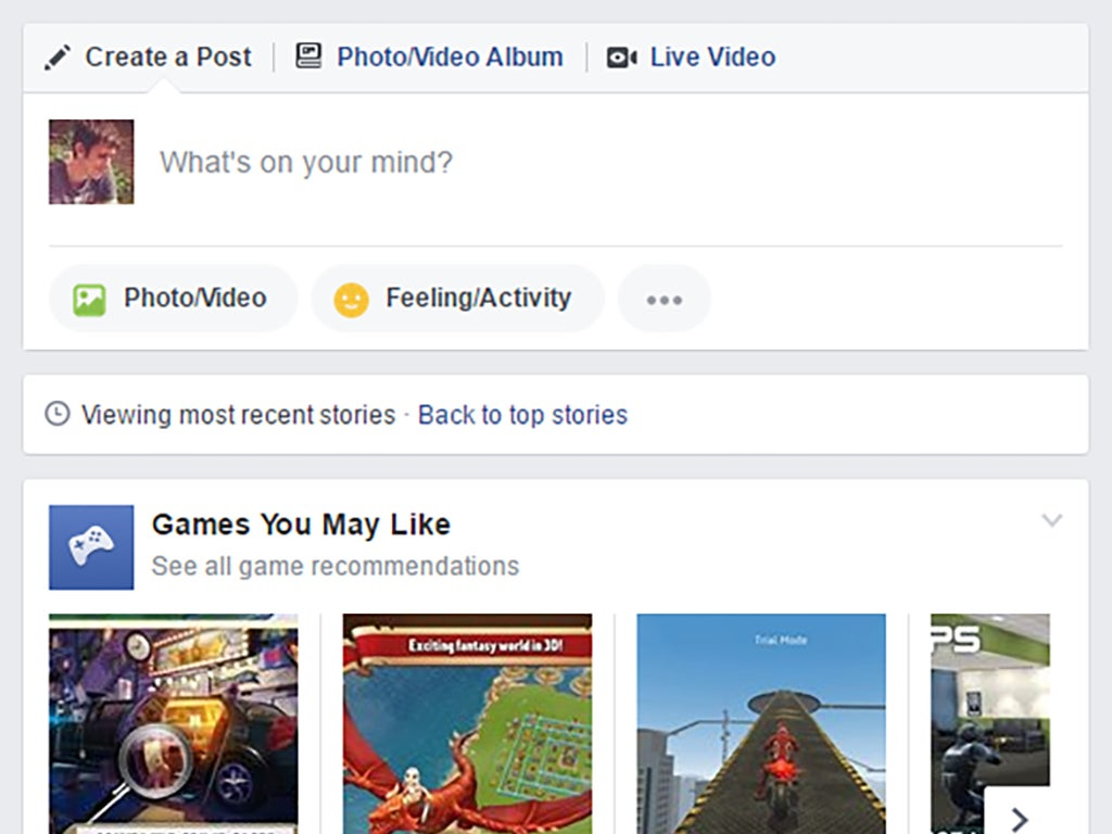 Facebook gives you the option to view the most recent stories instead of those it thinks you will like.
