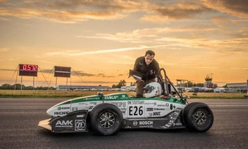 German Students Set New Electric Car Speed Record