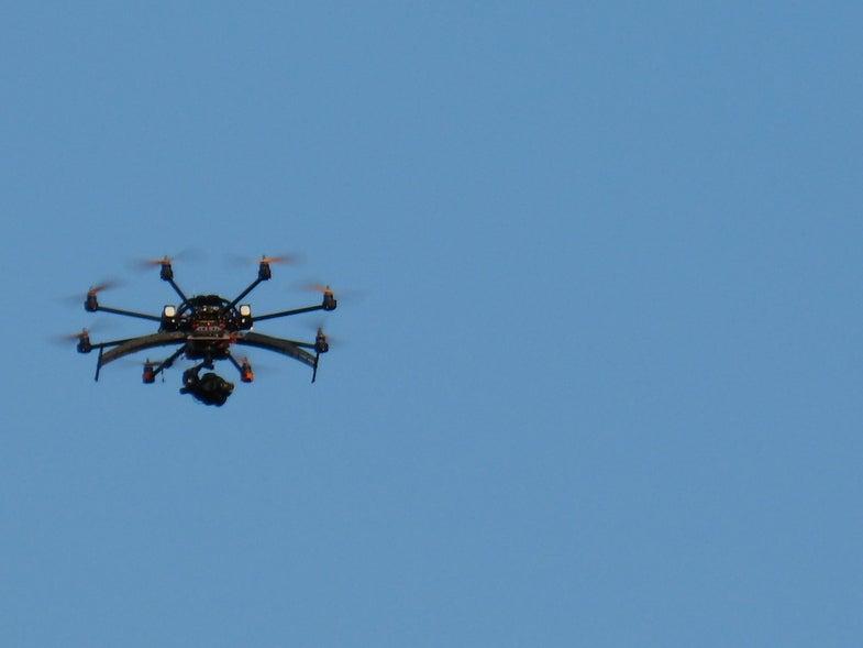 Octocopter In Flight