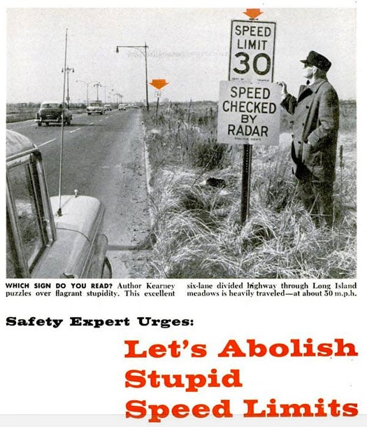 Abolishing Speed Limits: May 1960