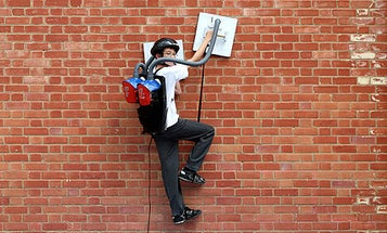 English 13-Year-Old Builds Vacuum-Powered Spider-Man Contraption And Literally Climbs the Walls