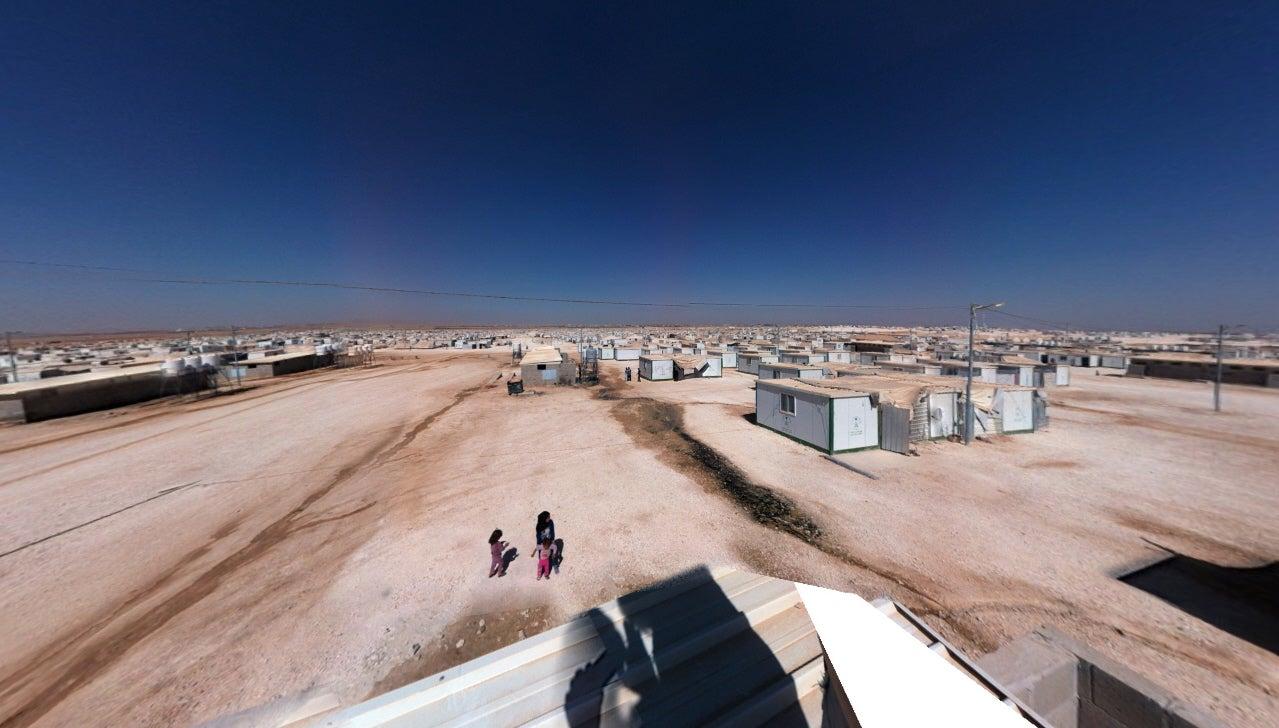 Big Pic: A Desert Refugee Camp For 120,000 Syrians