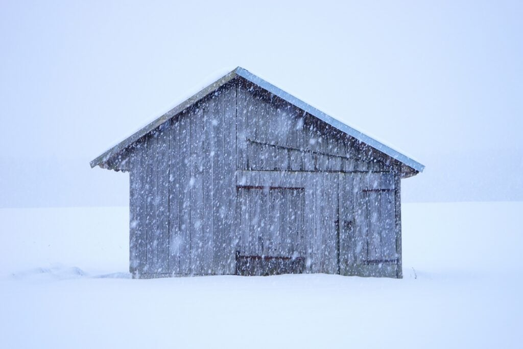 Shelter in a blizzard