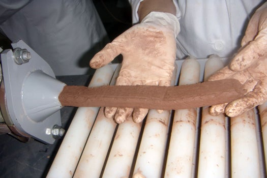 Paper Waste Makes World's Grossest-Looking Bricks