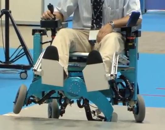 Robo-Wheelchair Climbs Stairs! [Video]