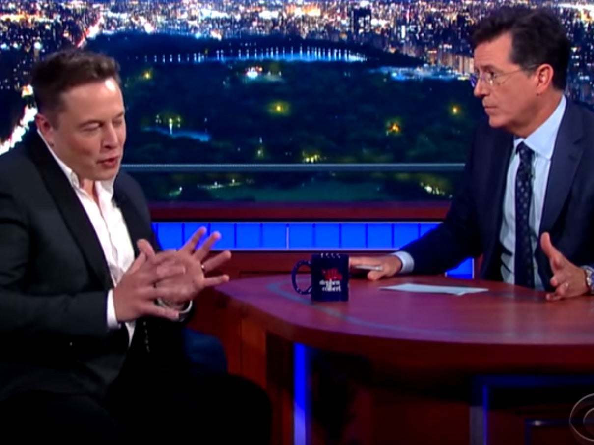 Elon Musk To Stephen Colbert: Nuclear Weapons Could Terraform Mars