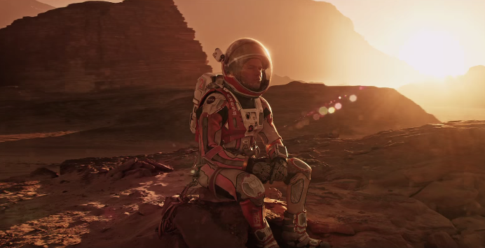 Screenshot from 'The Martian' official trailer