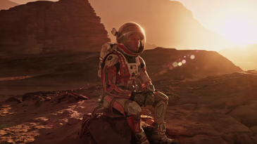 Screenshot from 'The Martian' official trailer