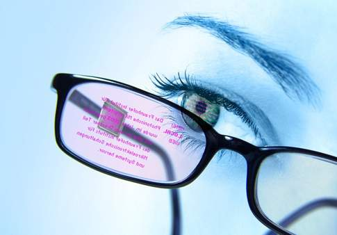 Heads-Up Display Embedded In Glasses