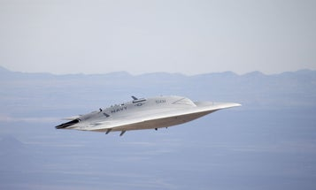Navy's Distinctly UFO-Like X-47B War Drone Makes First Flight in Cruise Mode