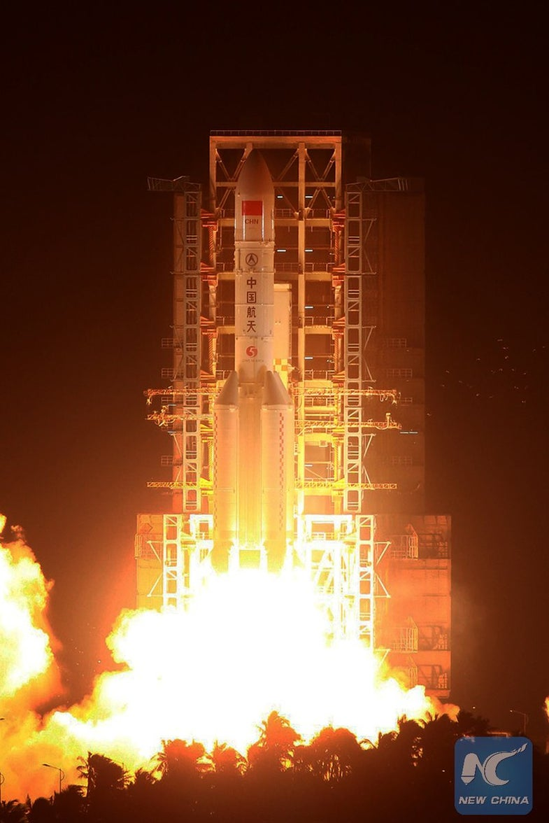 China launched the Long March 5, its largest-ever rocket