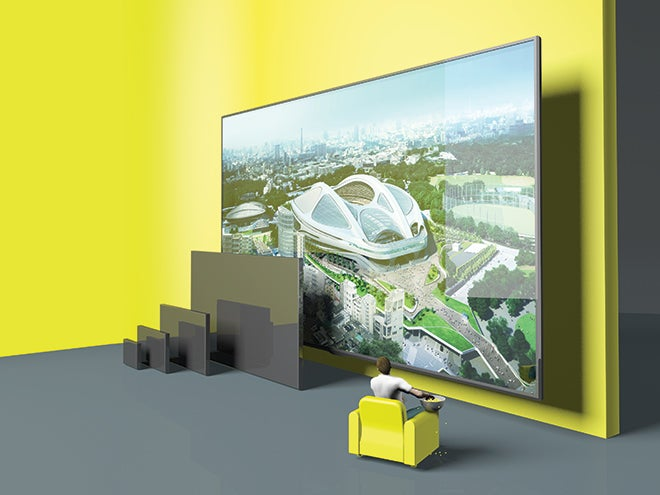 TVs are about to get bigger. Way bigger.