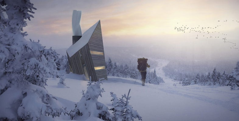 You Can Airdrop Onto A Mountain In This High-Tech Shack