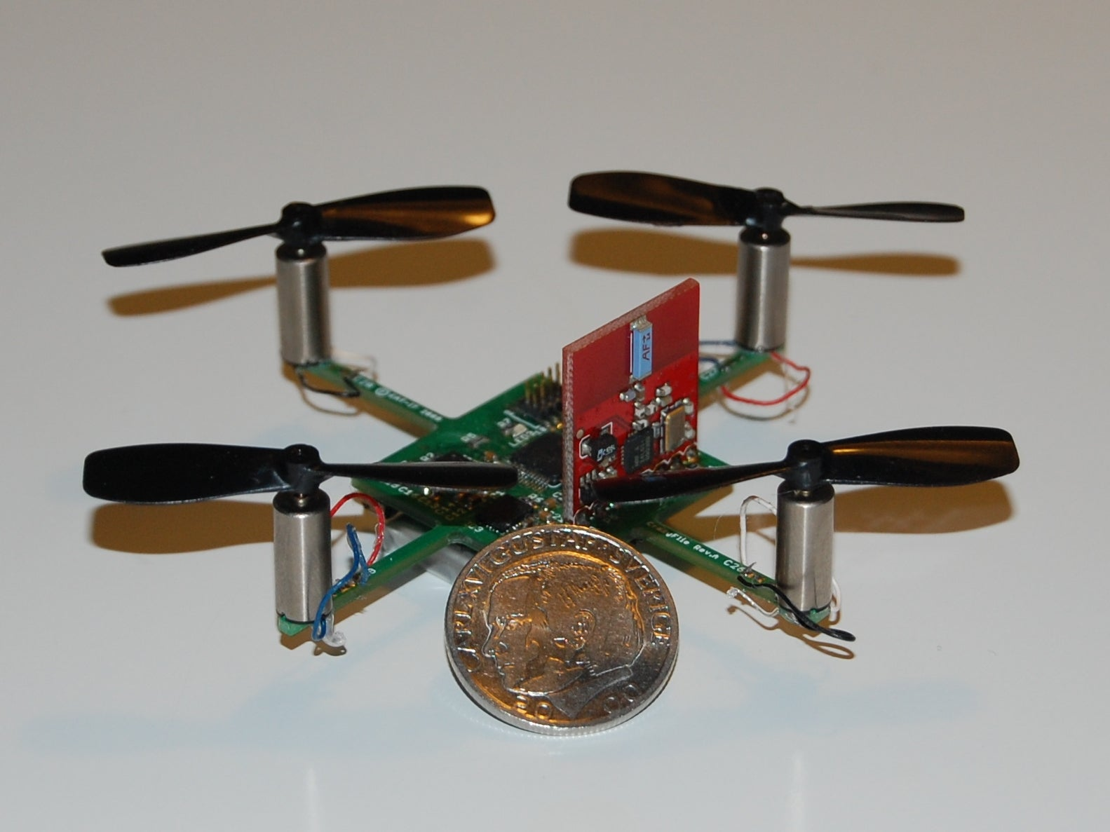 Video: Tiny Buzzing Quadcopter Is Basically Just a Flying Computer Chip