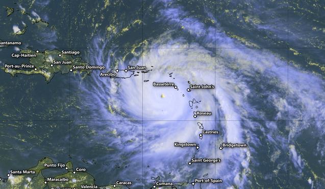 hurricane maria map