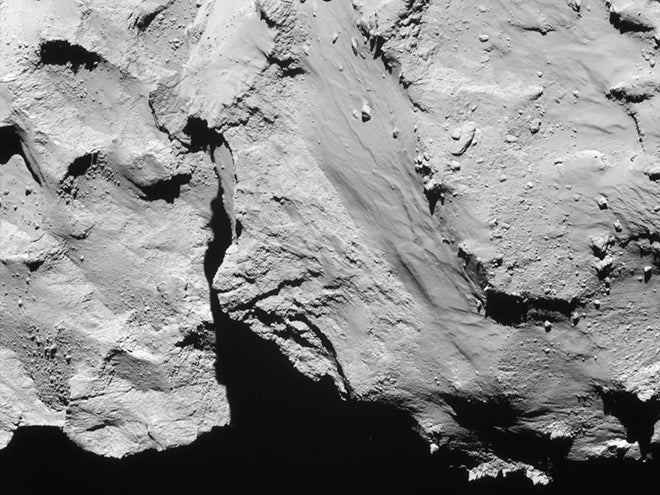 comet close up from rosetta mission