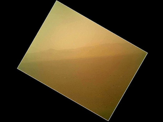 First Color Image of Mars Beamed Back to Earth by Curiosity Rover