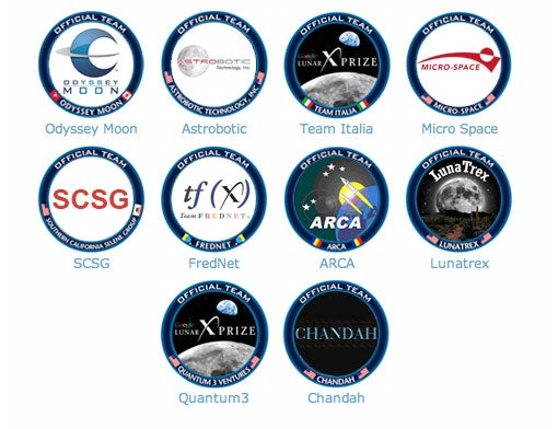 Lunar X Prize Competitors Announced