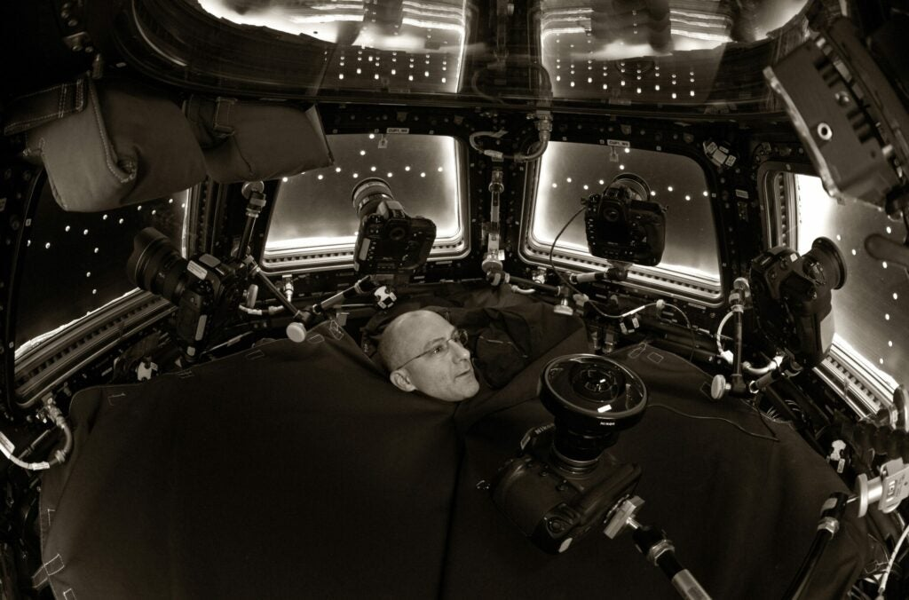 Self-portrait of Don Pettit in the space station cupola